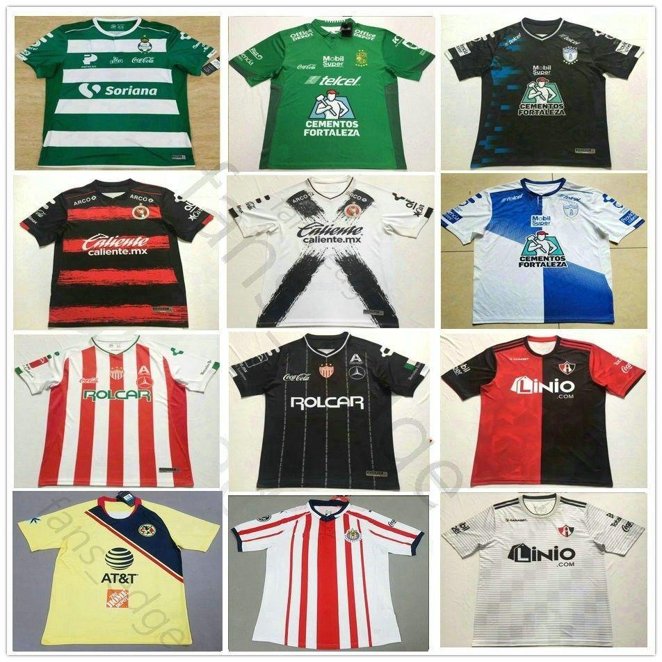 c41b284a2 2019 2018 2019 LIGA MX Club Leon Soccer Jersey Santos Laguna Necaxa Pachuca  Atlas Queretaro Tijuana Customize Home Away Adult Football Shirt From  Fans edge
