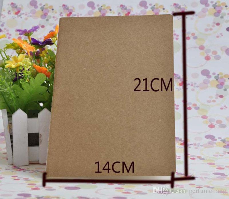 Caderno de papel de couro em branco blocos de notas do livro do vintage macio caderno diário memos Kraft capa caderno cadernos escritório livro escolar ZA5792