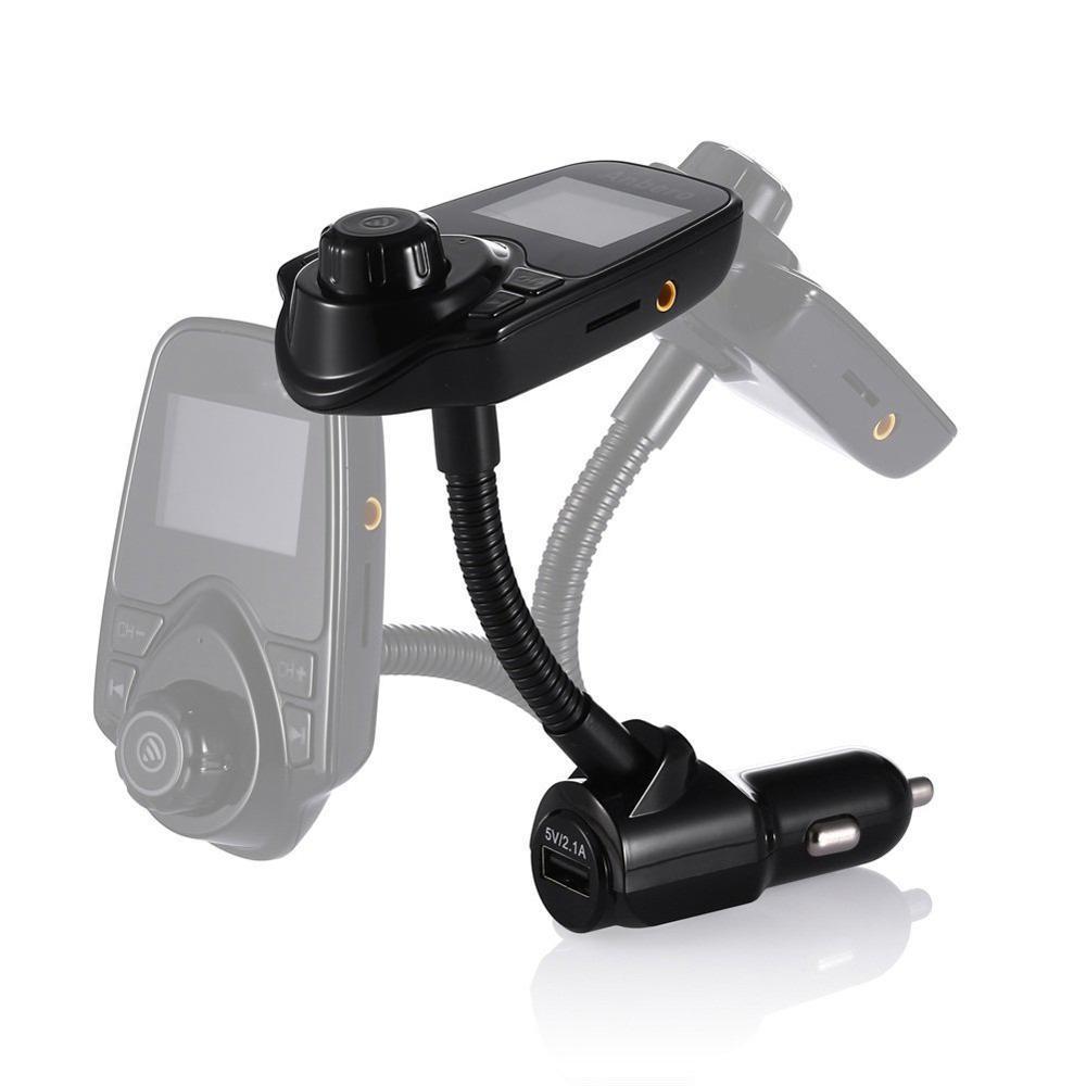 Eincar FM Bluetooth FM Transmitter Radio Adapter Car Audio Kit 5V 2.1A USB Car Charger MP3 Player TF Card USB Flash Drive