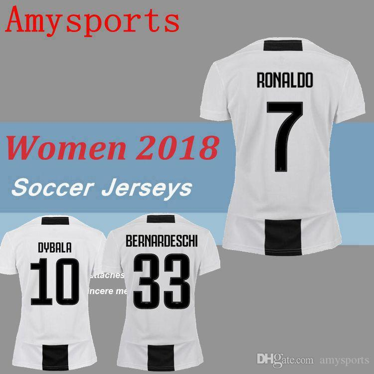 Fútbol Chiellini Niña Casa Jersey Soccer Camiseta 7 1819 Dybala Uniforme Ventas Mandzukic 2019 Mujer Higuain Ronaldo De OkXP8wn0
