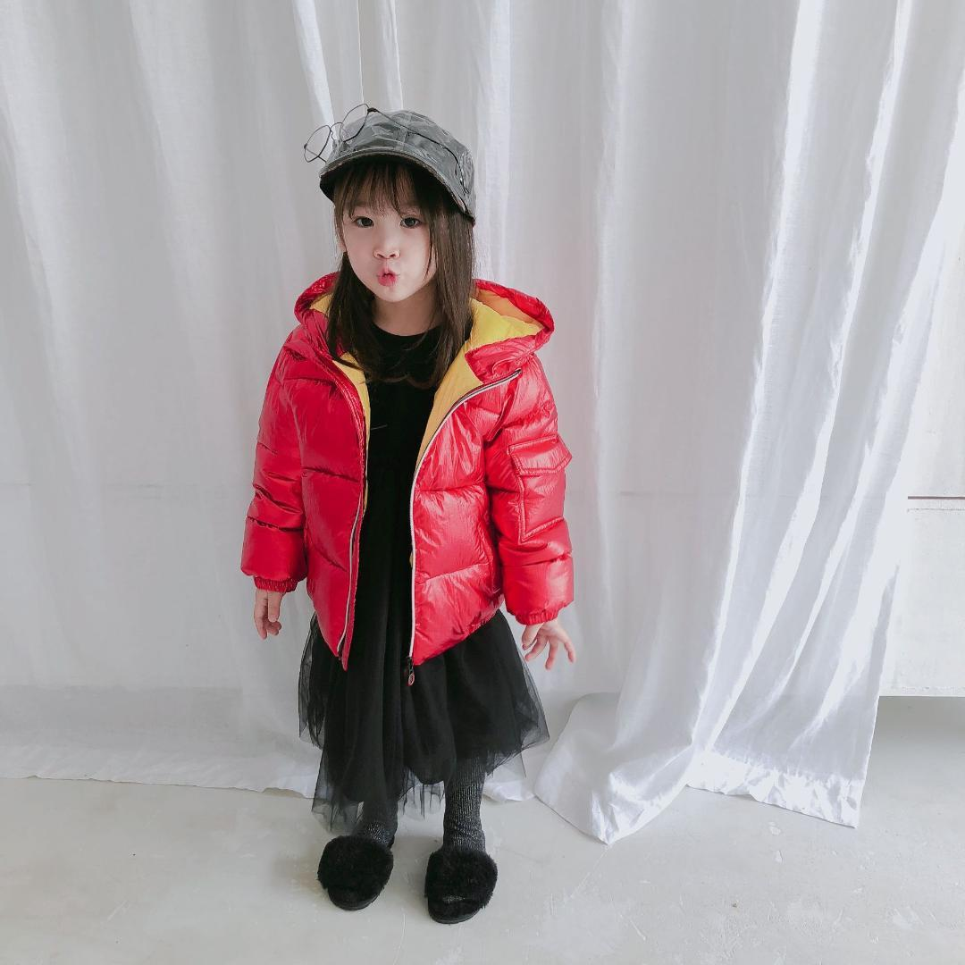 c00a49340 Korean Style Girls Jackets Pokas Children Winter Clothing Boys Down ...