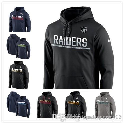 on sale 13c3e c401a Outdoor Wear Patriots Saints Jets Raiders Eagles Steelers 49ers Seahawks  Titans Sideline Circuit Pullover Performance Hoodie Jackets