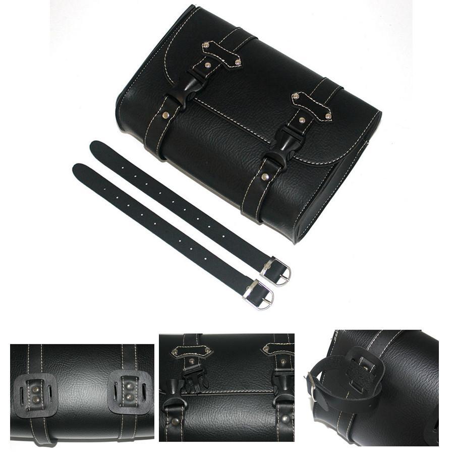 Motorcycle Tool Bag >> Motorcycle Tool Bag Motorbike Tool Roll Saddle Bag Seat Carry Storage Black Pu Leather Universal