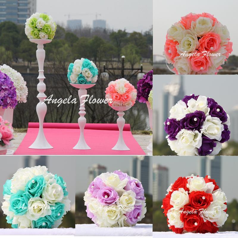 Diy Artificial Flower Ball Rose Home Party Hotel Shop Wedding