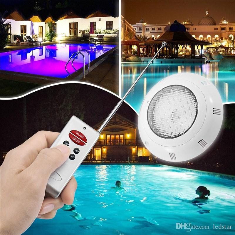 Underwater Lights RGB LED Swimming Pool Light Resin Filled Piscina Wall  Mounted Pool Lamp 12V IP68 25W 30W 35W Pond