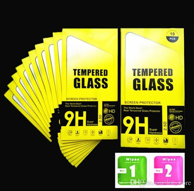 9H tempered glass For iphone 4S/X 85s 5c SE 6 6s 7 plus screen protector protective guard film case cover