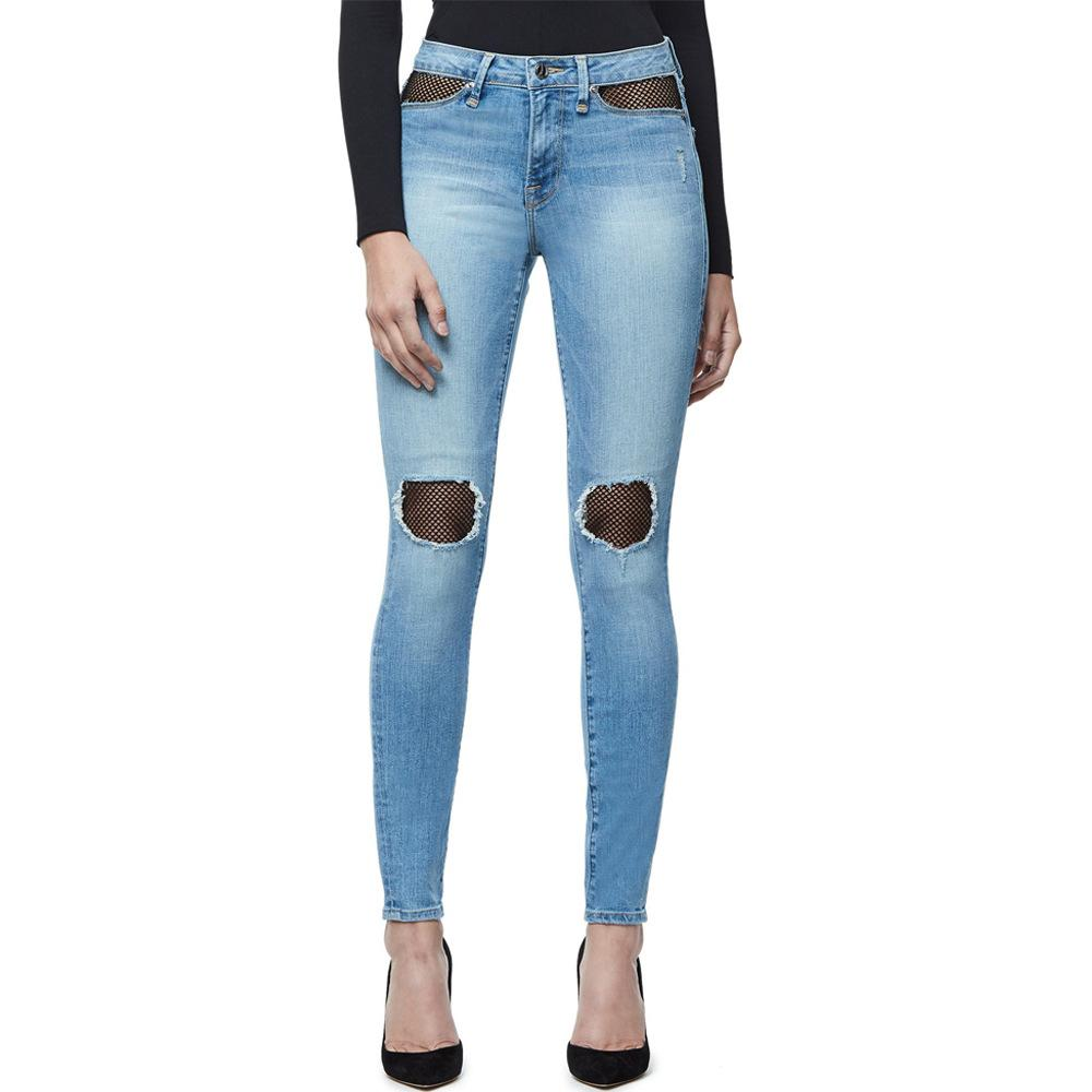 842e06df8ac Mid Rise Butt Lifting Stretch Skinny Jeans Woman Fish Net Mom Jeans ...