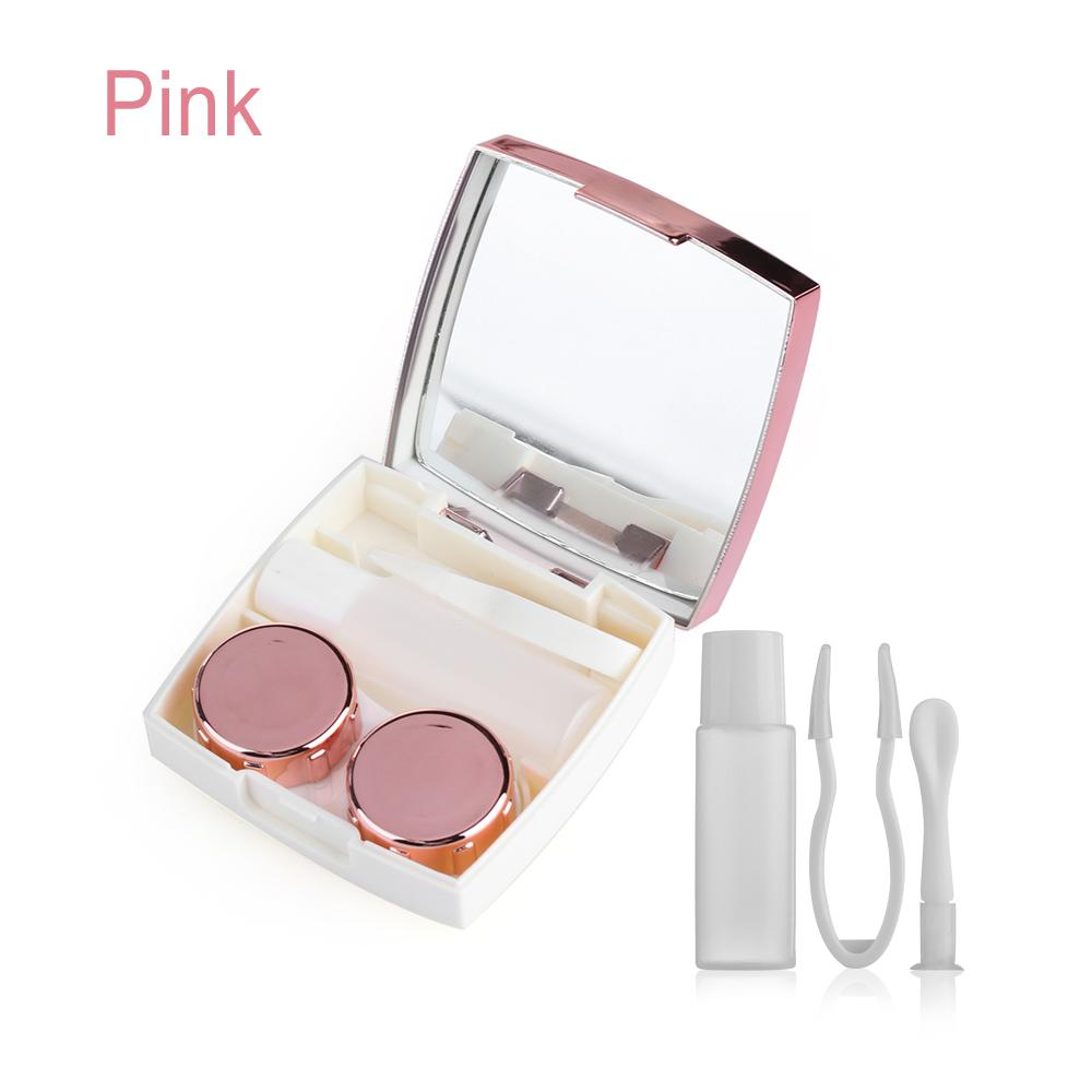 a0e6735f0ce 2019 Hot Sale Pink Mirror Case Unisex Contact Lens Box Lenses Soaking  Storage Eye Lashes Container ABS Plastic Travel Accessories From Grandliu,  ...