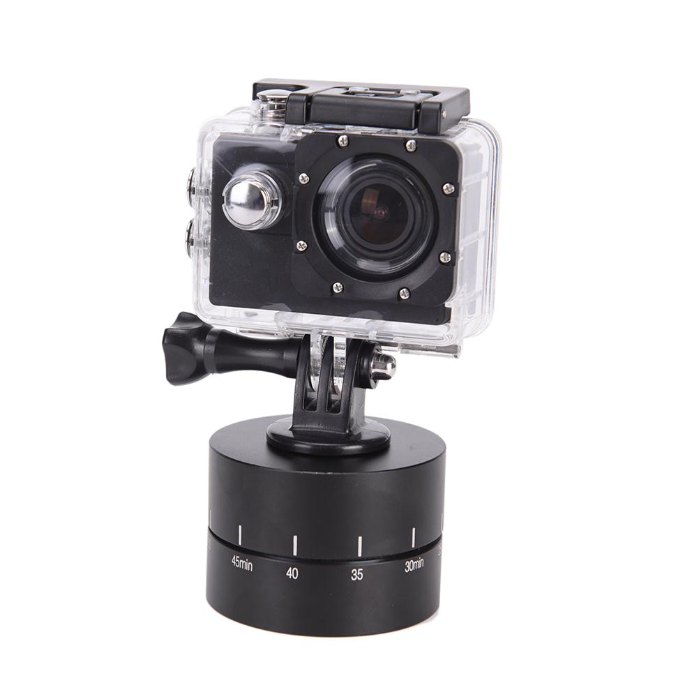 360 Degree Auto Rotate Camera Tripod Head Base 360 Rotating Timelapse for  Camera SLR For iphone