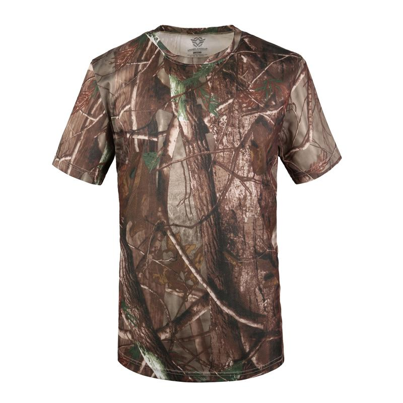 New Camouflage T-shirt Men Breathable Army Tactical Combat T Shirt Military Dry Camo Camp Tees