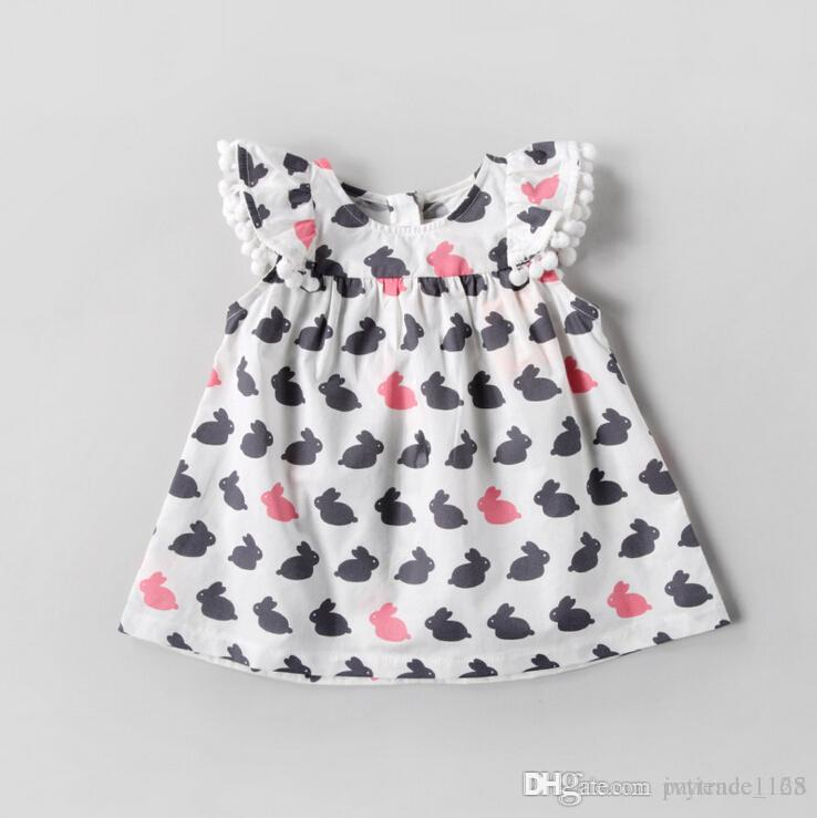 2a2549884 2019 2018 INS Hot Styles New Spring Baby Kids Cartoon Rabbit Printing Dress  Infant Kids Doll Collar 100% Cotton Summer Dress 1 5T From Ivytrade1125, ...