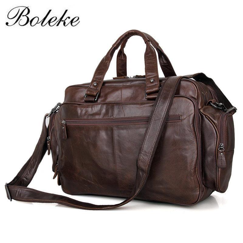5d3fc2040d7f Men Briefcase Full Grain Genuine Leather Handbags Office Bag For Men  Messenger Bag Leather 16 Inch Laptop 7150Q Leather Travel Bags Briefcase  Wanker From ...