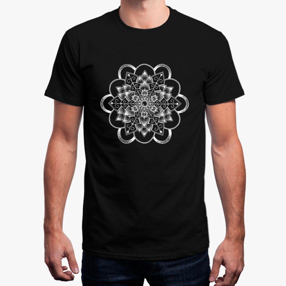 5e518231eae New Tshirt For Men Dahlia Mandala Clothing T Shirt Mens Cotton Cool Male  Men S T Shirt Plus Size 3xl Tops Crea Tu Camiseta Design Your Own T Shirts  Womens ...