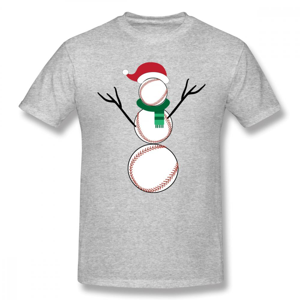 e07283f28 Funny Christmas Baseball Snowman T Shirt Cute Anime Gift Tees 2018 New T  Shirt Male O Neck Unique Design For Man Top Tees Make A Tee Shirt Funniest  T Shirts ...