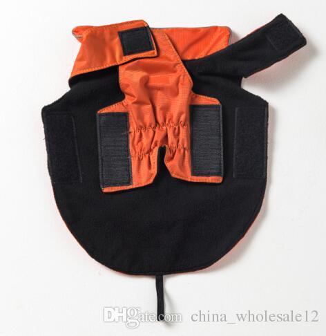 wholesale XL-5XL Pet Dog Reflective Vest Outdoor Waterproof Rain Coat Fleece Winter Pet Clothes For Dogs Cats Dog Clothes Wholesale