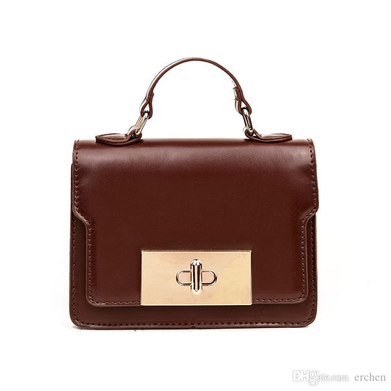 cb9e842f8bbc 2019 Hot Sale New Fashion Trend PU Handheld Women S Bag Korean Version Of  Single Shoulder Crossbody Bag Retro Trend Mobile Phone Small Square Bag  From ...