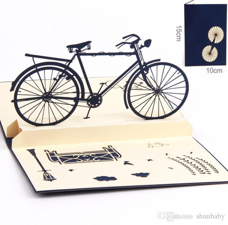New Handmade 3D Bicycle Greeting Cards Vintage Bike Creative Gifts Postcard Birthday For Lovers Gift Card Shopping Online Purchase