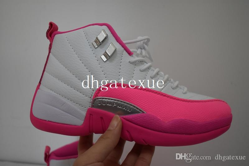 the best attitude 085c0 454f3 XII Vivid Pink Shoes Womens 12s Valentines Day Pink Sneakers For Sale Size  36 40 Cheap Shoes Shoes For Women From Dhgatexue,  98.48  DHgate.Com