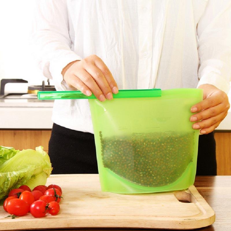 Kitchen Food Sealing Storage Bag Home Food Grade Silicone Fresh Bags