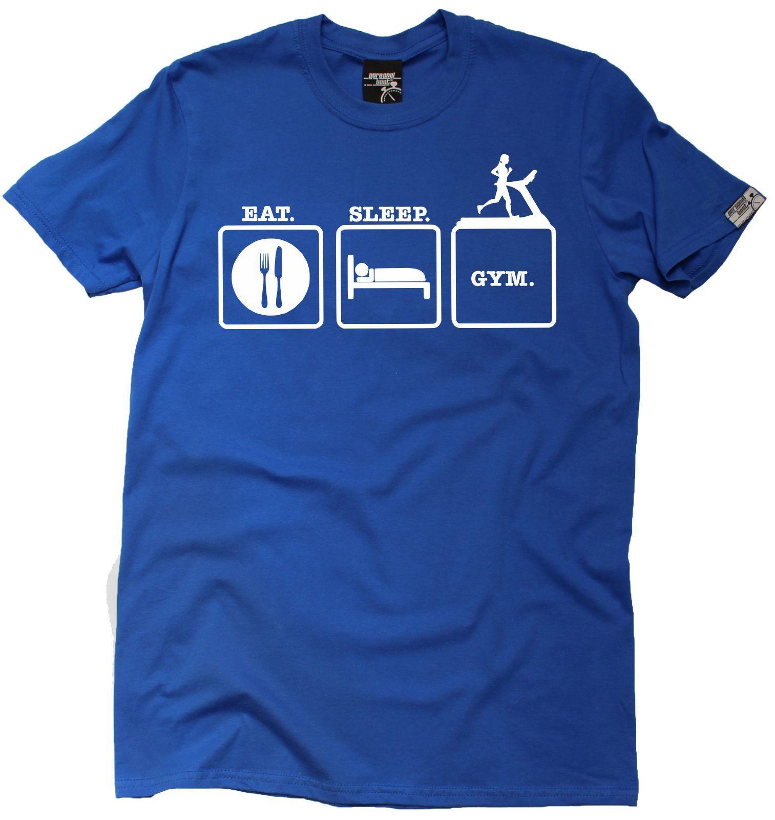 Eat Sleep Gym Treadmill MENS T SHIRT Birthday Funny Gift Present Running Runner Shirt Prints Funky Designs From Spreadshirtinc
