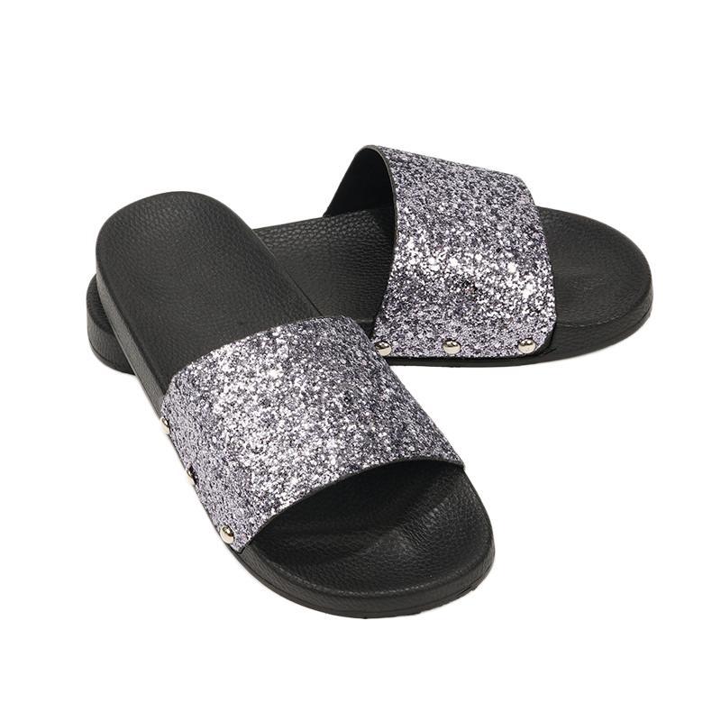 92810ffe6 Senza Fretta Women Slippers Flip Flops Peep Toe Sandals Glitter Slippers  Sandals Platform Comfortable Summer Slippers Women Women Slippers Flip  Flops Summer ...