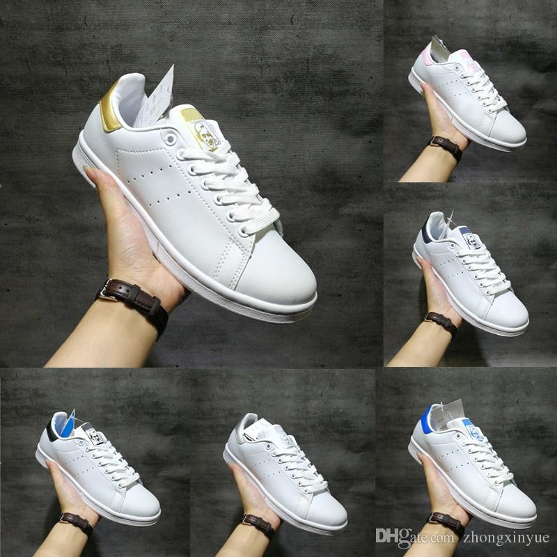 8553f4683be Hot Sell Discount Spring Copper White Pink Smith Casual Shoes Black ...