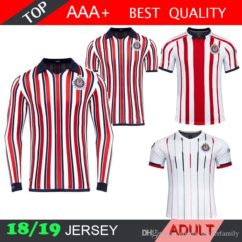 2019 Chivas New 2018 De Guadalajara World Cup Soccer Jerseys Long Sleeve  Kit 110 Year 2019 MEXICO Club A.PULIDO Thailand Football Shirts From ... 19e746acf