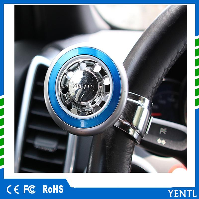 Car Auto Steering Wheel Spinner Knob Auxiliary Booster Aid Handle Knob Black High Quality Alloy Material Easy To Install Atv,rv,boat & Other Vehicle