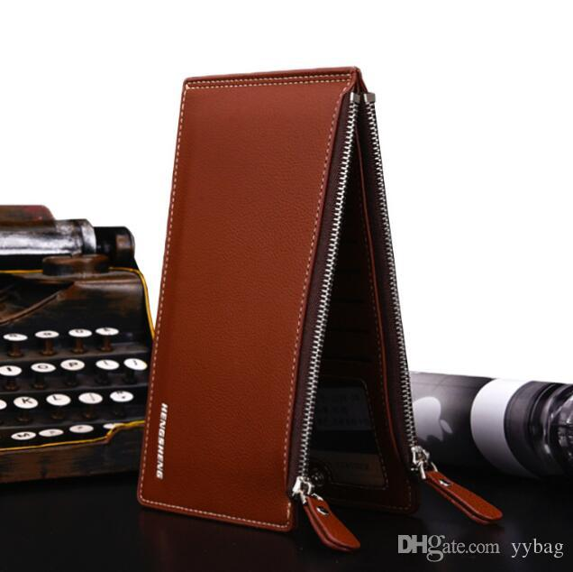 low priced 47a8e 6fd77 Leather Wallet 2018 Hot Litchi Pattern Mens Wallet Card Slot Card Holder  Card Holder Phone Case Wallet