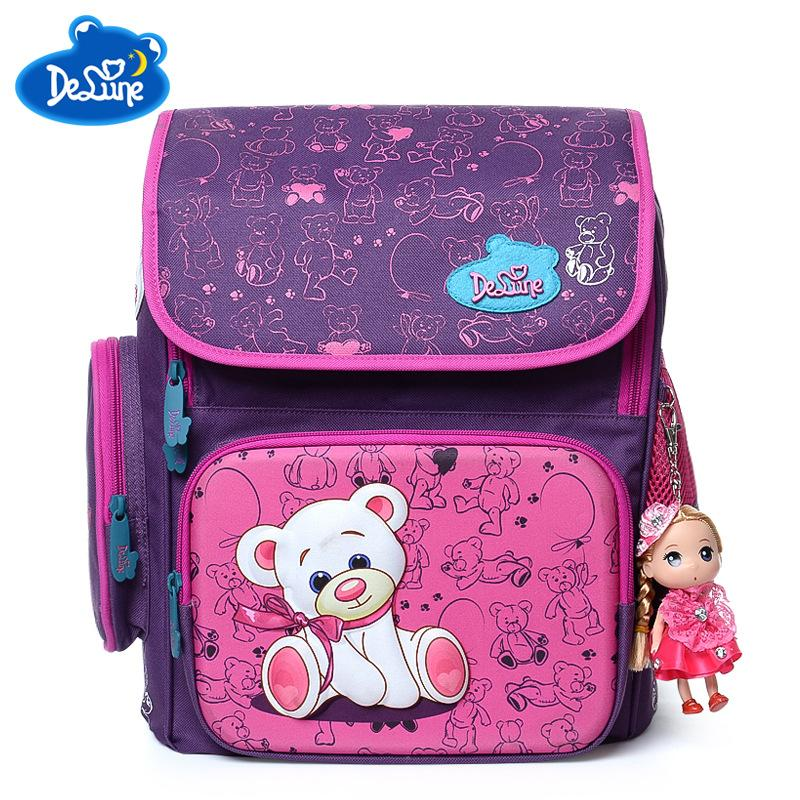 3158d75549 Delune Cute School Bag Orthopedic Backpack Children School Durable Backpacks  Bear Zipper Backpack For Kids Girls Boys Grade 1 6 Laptop Backpack Beach  Bags ...