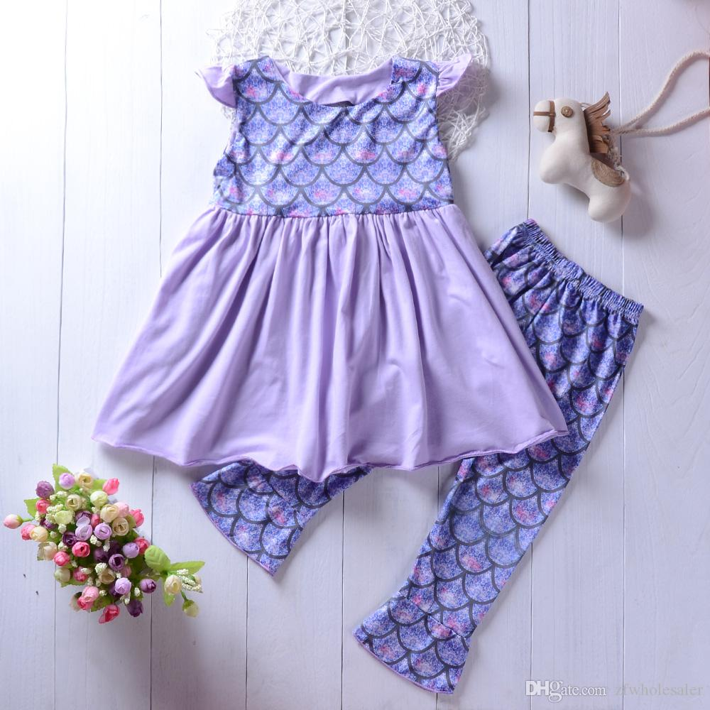Baby Girl Boutique Clothing Set Toddler Kids Fashion Outfit Summer Kidswear Suit Infant Clothes
