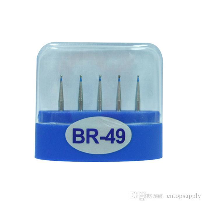 1 paquete 5 piezas BR-49 Dental Diamond Burs Medium FG 1.6M para pieza de mano de alta velocidad dental Muchos modelos disponibles