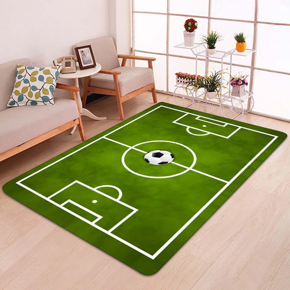 Living Room Carpets Creative Football Field Print Front Entrance