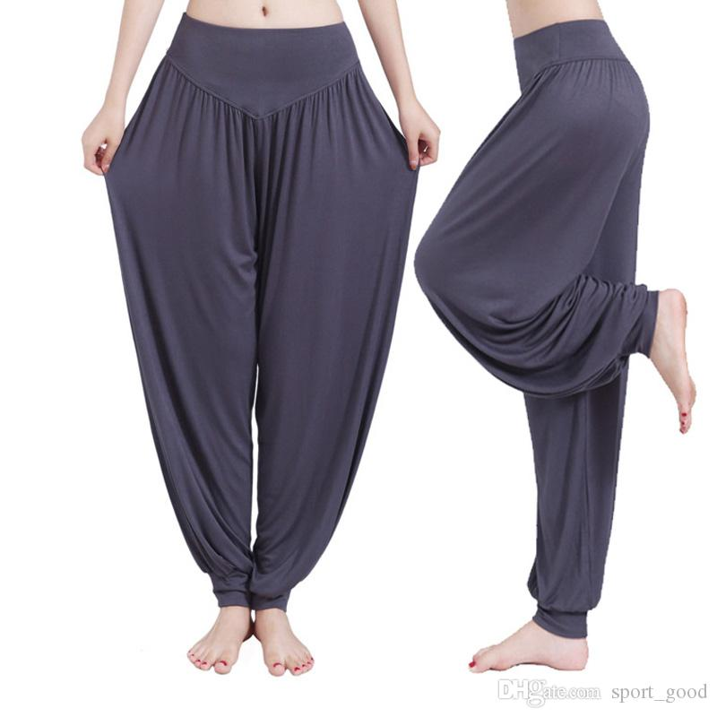 New Women Lady Harem Yoga Cotton Loose Pants Comfortable Long Pants Belly Dance Wide Trousers Yoga Outfits Bloomers for Sale