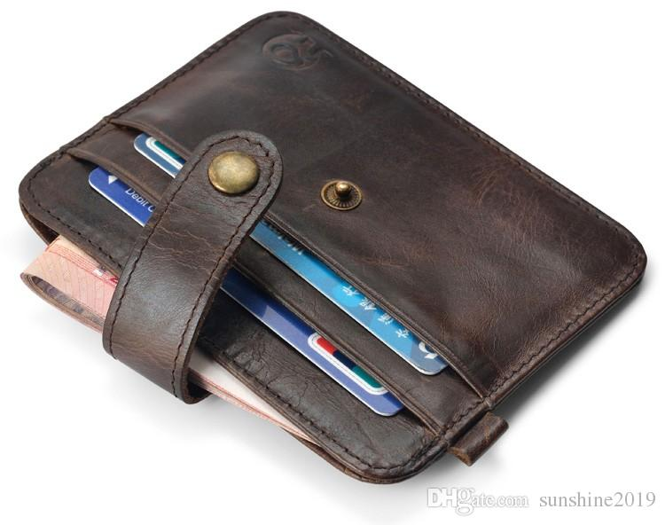 Vintage Slim Mini Artificial Leather Credit ID Card Holder Wallet Purse Bag Pouch Book Cover Case Dollar Price Holder