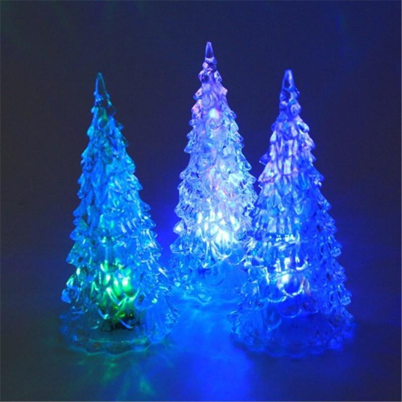 acrylic christmas tree colorful night lights crystal led christmas tree lights toys shopping for christmas decorations silver christmas decorations from