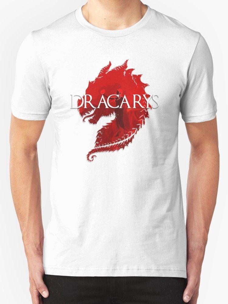 Camiseta Camiseta Hombre Dracarys Dracarys Blanco thQdxsrC