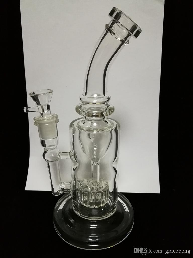 2017 Wholesell Thick Glass bongs Torus Function recycler water pipes oil rigs dab rig smoking pipes 14.4mm female joint