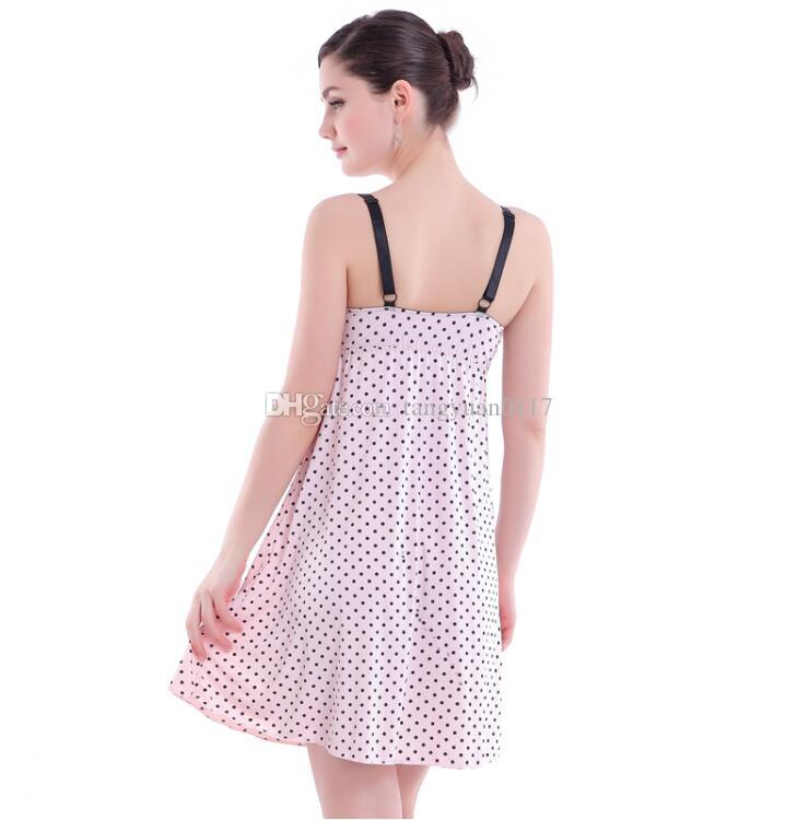 2017 Maternity Clothes Breastfeeding camisole Sleeveless Nursing Maternity Dresses for pregnant women Nightdress Pink
