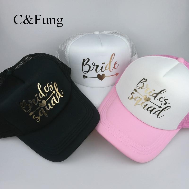 C Fung Designer BRIDE SQUAD Hat Squad With Arrow Trucker Hats Bachelorette  Hen Party Hat Caps Team Bride Bridesmaid Gift Custom Caps Cool Caps From  Naixing 34900edf6ab6