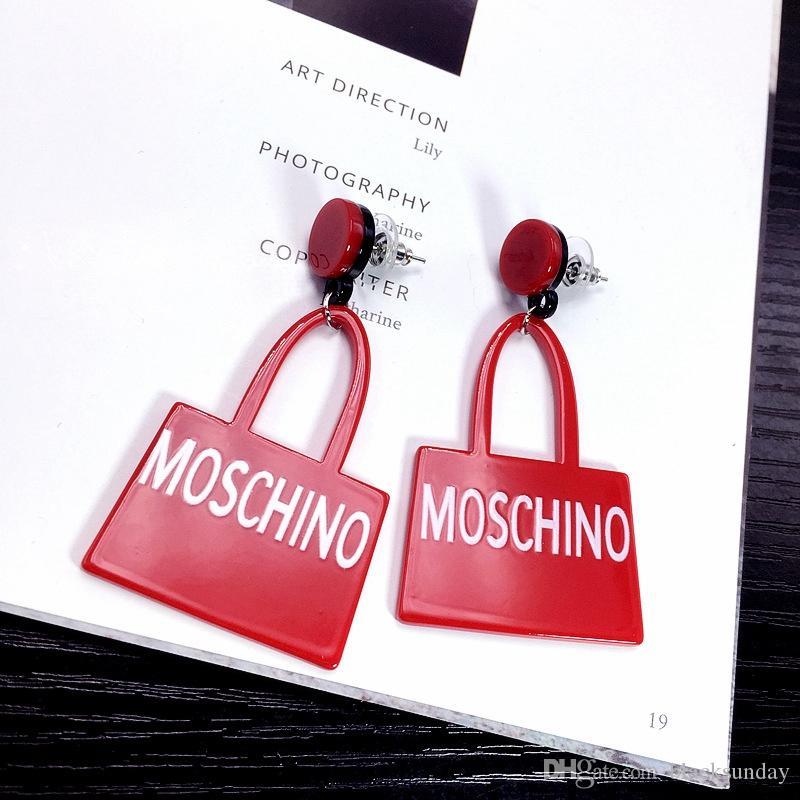 5d54712c5d8d Fashion Women Earrings Handbag Graphics Eardrop Letter Earring Fastness  Personality EarNail Luxury Brand Designer Earring Valentines Gifts Fashion  Women ...