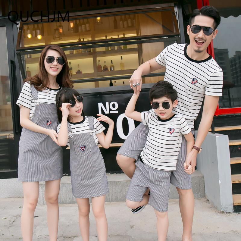 c17692aecb55a Family Matching Outfits Striped Family Clothing Mom Mother And Daughter  Clothes Father And Son Clothes Family Clothing Sets Matching Mother Son  Outfits ...