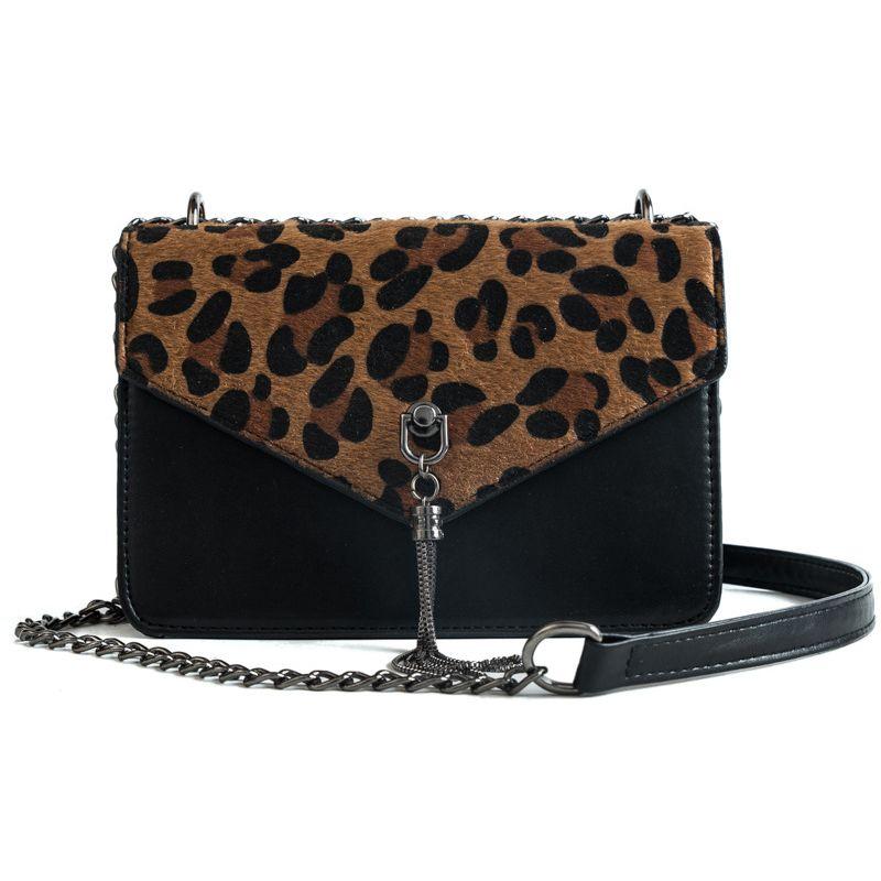 e1e2c0e4d Compre Bolsas De Luxo Mulheres Leopardo Saco De Designer De Moda Cadeia De  Couro Pequeno Crossbody Sacos Para As Mulheres 2018 Borla Bolsas E Bolsas  De ...