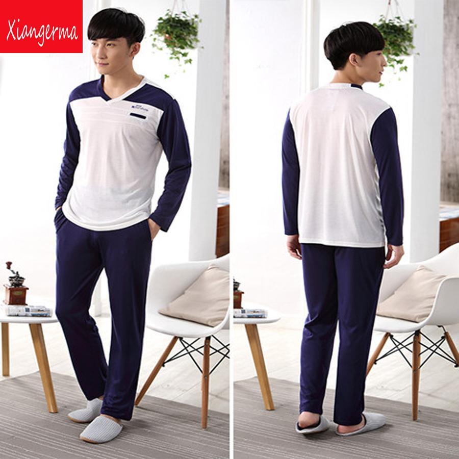 Family Christmas Pajamas Blue.Long Sleeve Pajama Winter Blue Men S Pajama Sleepwear Men Nightgown Sleepwear Family Christmas Pajamas Men Zn