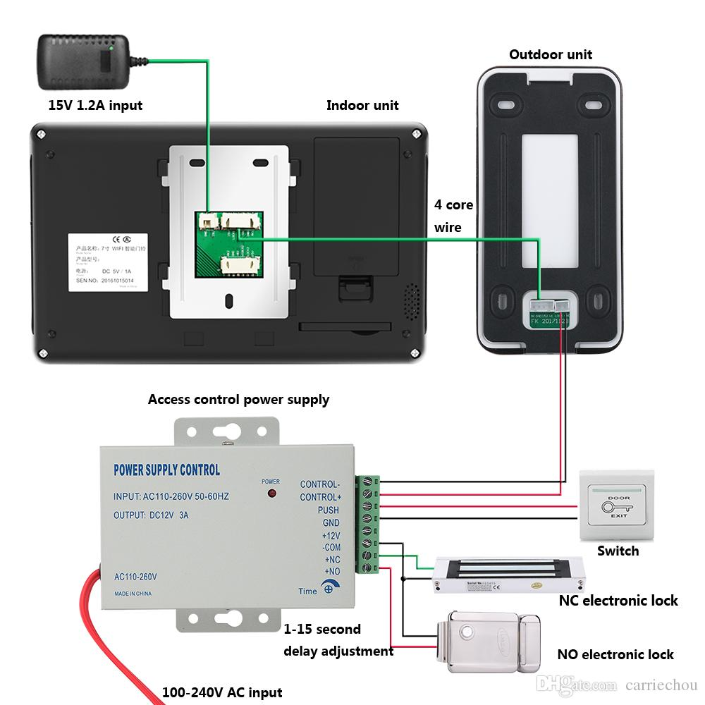 7inch Wired Wifi Video Door Phone Doorbell Intercom Entry System