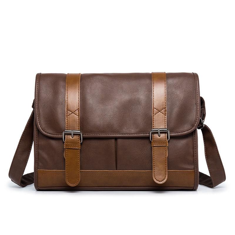 cb233701dc 2018 New Brand Leather Men Retro Bag Casual Business Mens Messenger Bag  Fashion Men S Travel Crossbody Vintage Bolsas Male Cross Body Bags Handbags  ...