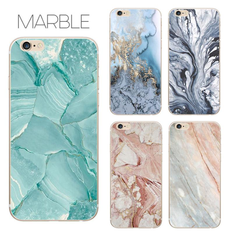 Creative Marble TPU Soft Back Cover Cellphone shell Protector Phone Cases For iphone With OPP Bag Free Shipping