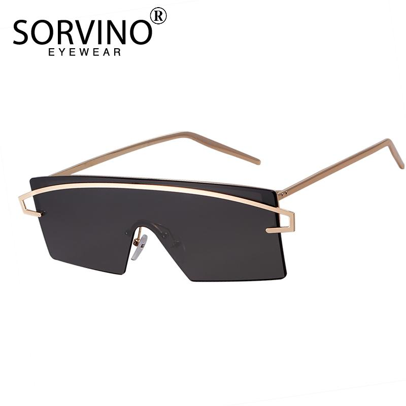 5569ad999bd SORVINO Futuristic Rimless Shield Sunglasses 2018 Men Women 90s ...