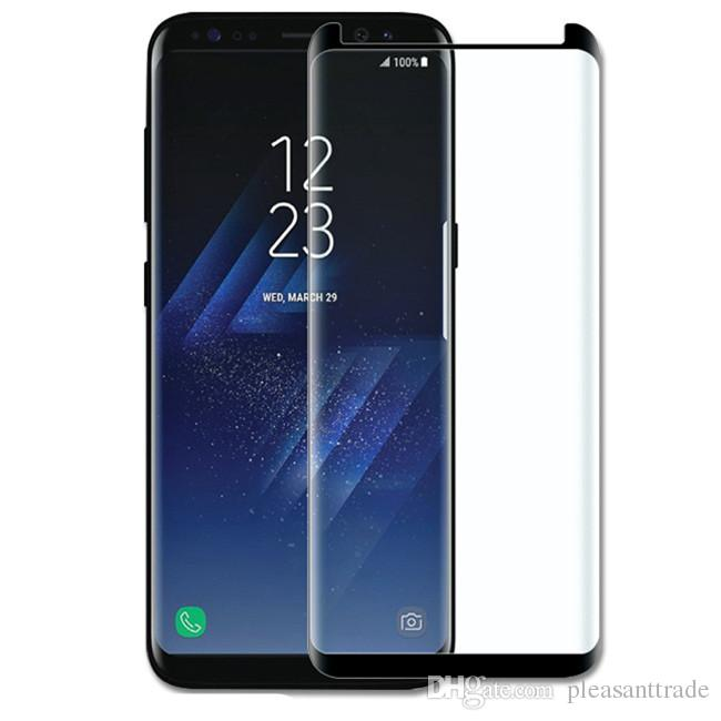 detailed look 890df 2f0f1 Really 5D Full glue full cover Tempered Glass High quality Curved Screen  Protector for S8 s8plus s9 s9 plus note8 note9 Cover Film