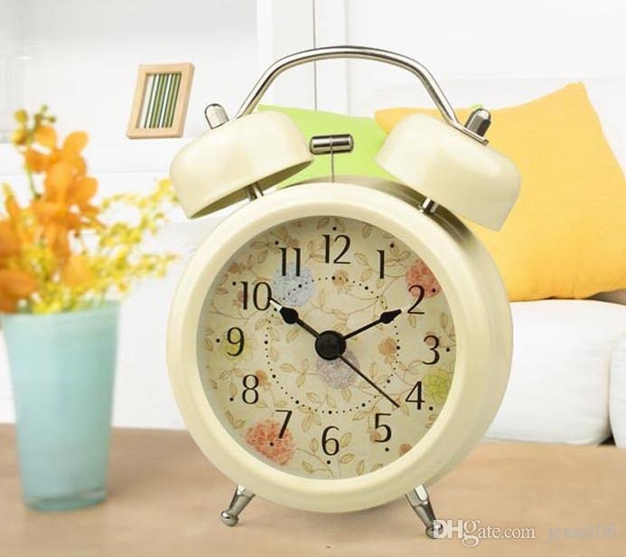 Antique Alarm Clock Classic Small Round Silent Desk Table Alarm Clocks With Backlight Non Ticking Quartz Modern Home Decor Kids Gift